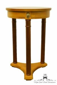 Stanley Furniture Italian Inspired 16 Round Two Tone Accent End Table Plan