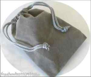 Jewelry Pouch Velour velvet Type Pouch Lot Of 5 Grey Color