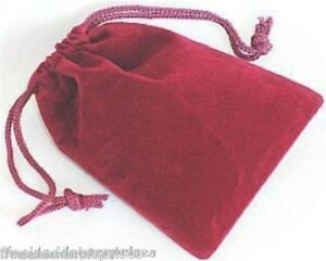 Jewelry Pouch Velour velvet Type Pouch Lot Of 5 Burgundy Color