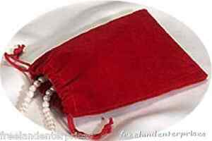 Jewelry Pouch Velour velvet Type Pouch Lot Of 5 Red Color