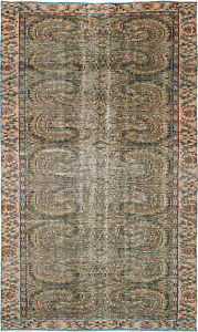 Hand Knotted Turkish Carpet 5 3 X 8 11 Melis Vintage Traditional Wool Rug