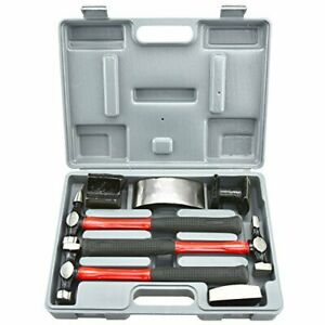 Neiko 20709a Heavy Duty Auto Body Hammer And Dolly Set7 Piece Repair Kit
