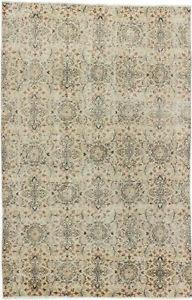 Hand Knotted Turkish Carpet 5 8 X 8 8 Melis Vintage Traditional Wool Rug