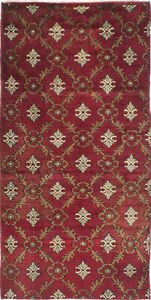 Hand Knotted Turkish Carpet 3 2 X 6 7 Melis Vintage Traditional Wool Rug