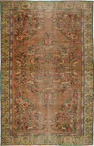 Hand Knotted Turkish 5 7 X 8 9 Melis Vintage Wool Rug Discounted