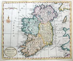 Ireland By Thomas Kitchin C1792 Genuine Copper Engraved Antique Map