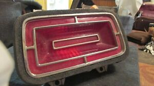 Nos 1970 Ford Galaxie Ltd Xl Custom 500 Rear Taillight Body Lens And Gasket Asby