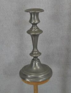 Candle Stick Holder Push Up 7 5 Pewter Marked R Original 1800 Antique