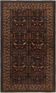 Hand Knotted Carpet 3 8 X 6 4 Traditional Vintage Wool Rug
