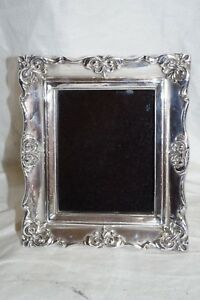Ornate 925 Sterling Silver Photo Picture Frame Israel Molded