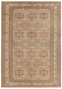 Hand Knotted Turkish 6 7 X 9 8 Antalya Vintage Wool Rug Discounted