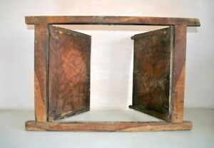 Window Door With Frame Antique Old Wooden Hand Crafted Wall Decor