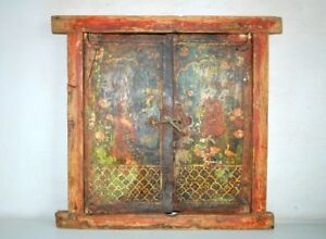 Painting Window Frame Jharokha Door 17th C Antique Old Original Hand Made
