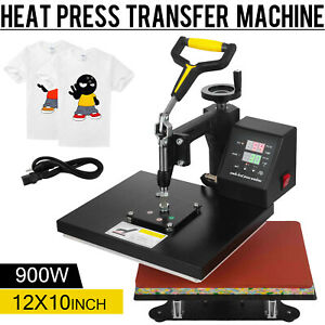 12 X 10 Swing Away Digital Heat Press Machine Transfer Sublimation T shirt