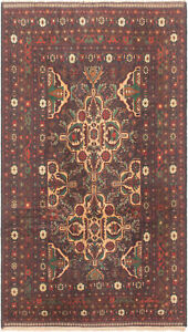 Hand Knotted Carpet 3 8 X 6 7 Traditional Vintage Wool Rug