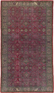 Hand Knotted Turkish 5 7 X 9 8 Antalya Vintage Wool Rug Discounted