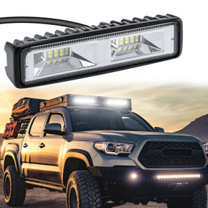 6 48w Led Work Light Flood Beam Bar Car Suv Offroad Driving Fog Lamp