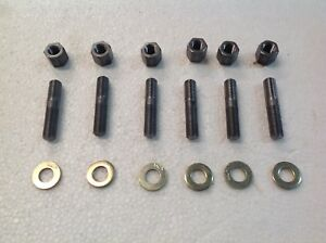Farmall Ih Tractor 7 16 Manifold Stud And Nut Set Of 6 Fits H M Supers 300 400