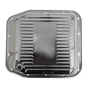 Summit Racing G3887 Transmission Pan Stock Steel Chrome Finned Ford Aod Each