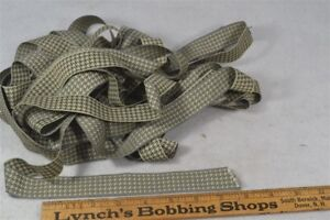Vintage Ribbon Trim Antique Gray Black Hounds Tooth Check 7 8 X 14 Yds