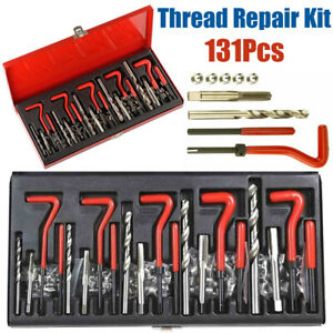 131pc Stripped Thread Repair Kit Hss Drill Helicoil Set Metric M5 M6 M8 M10 M12