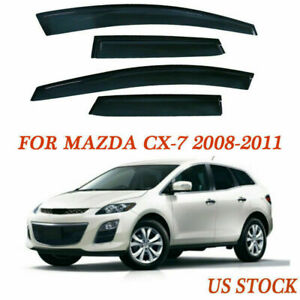 Fit Mazda Cx 7 08 11 Door Window Visors Vent Cover Deflectors Authentic Abs Part