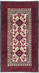 Hand Knotted Carpet 3 3 X 6 0 Traditional Vintage Wool Rug