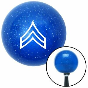 White Corporal Blue Metal Flake Shift Knob Jr Dragster Gear Model A Parts