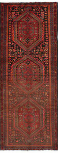 Hand Knotted Persian Carpet 4 0 X 10 7 Persian Vintage Traditional Wool Rug