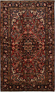 Hand Knotted Persian Carpet 4 11 X 8 4 Traditional Vintage Wool Rug
