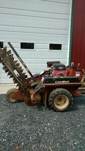 Ditch Witch 1820 Trencher Walk Behind Carbide Cutters Hydro Drive 18 Hp Honda