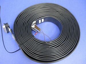 Belden Shielded Jacketed Flat Ribbon Cable 25 Wire With Connectors Appx 20 Ft