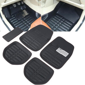 5pcs Car Floor Mats Front Rear Floorliner All weather Waterproof Carpet