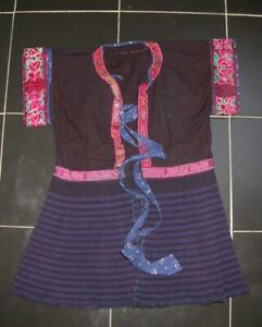 Chinese Minority People S Child Old Hand Embroidery Costume Skirt