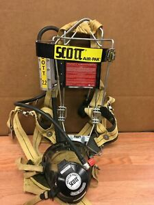 Scott Air Pack With Harness Backplate Assembly W Mask Used Working Ships Free