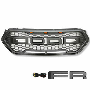Front Grille For 2016 2018 Ford Escape Raptor Style Upper Grill Bumper Abs