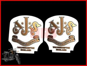 New Ajs Toolbox Oil Tank Sticker Decal Set Of 2 Pcs For Ajs Motorcycles