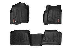 Rough Country Floor Mats Front rear Chevy Gmc 1500 2500hd 3500hd Crew Cab 99 06