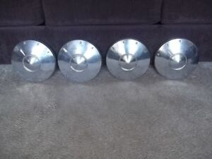 1962 Ford Fairlane Nice 9 1 2 Dog Dish Hubcaps Wheel Covers Fomoco Set Of 4