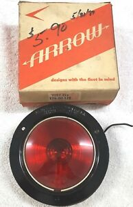 Vintage Nos Arrow Red Lamp 129x R12 Directional Stop Tail Light Antique Rat Rod