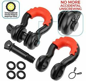 Motormic D Ring Shackles 2pc 3 4 Clevis Shackle With 7 8 Pin Max 57 000 Lbs