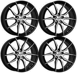4 Dotz Misano Dark Wheels 7 5jx17 5x108 For Jaguar S type Xe Xf Xj X type