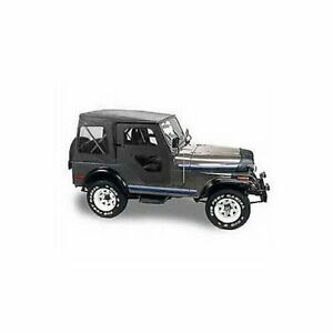 Bestop 51117 01 Soft Top Replace a top Polymer Cloth Black Fits Jeep Cj5 Each