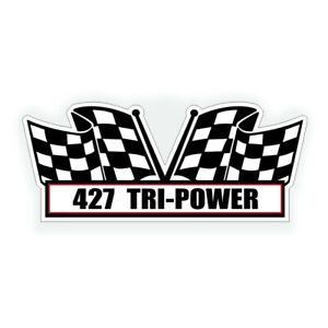 427 Tri Power Decal Fits Chevy Ford Cobra Big Block Six Pack Muscle Car Engine