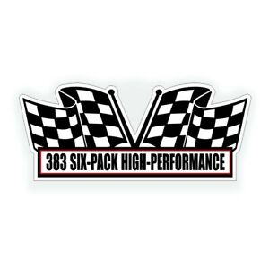 383 Six Pack Air Cleaner Tri Power Engine Decal For Hot Street Rod Or Muscle Car