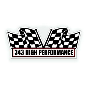 343 High Performance Air Cleaner Engine Decal Fits Amc Amx Muscle Car