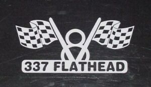 V8 Flathead 337 Engine Decal For Nostalgia Classic Muscle Hot Rod Or Muscle Car