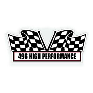 496 High Performance Air Cleaner Engine Decal For Bbc Muscle Car Engine