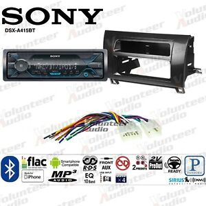 Sony Dsx A415bt Single Din Radio Install Mount Kit Mediaplayer Bluetooth No Cd