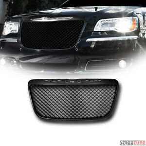 For 11 14 Chrysler 300 300c Matte Bk Bentley Mesh Front Grill Grille Replacement